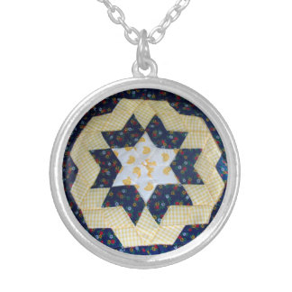 Necklace – Quilted Star Pattern
