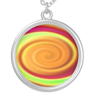 Necklace - Rainbow Swirl Abstract Pattern