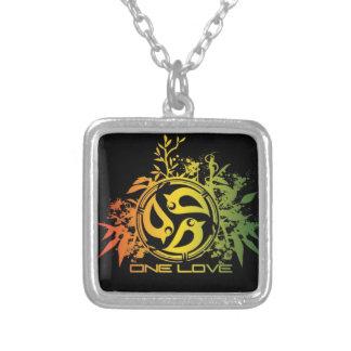 Necklace rasta colors, one love, lion of judah,