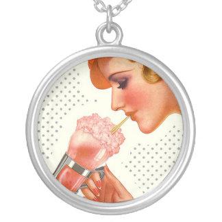 Necklace Retro Nostalgic Soda Fountain Drink gifts