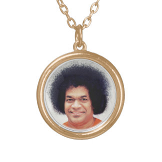 Necklace Sathya Sai Baba Gold Finish