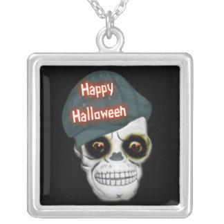 Necklace Skeleton Head Happy Halloween