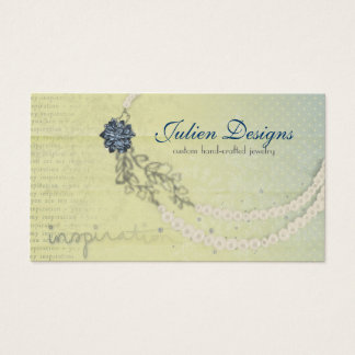 Necklace Sketch Business Cards