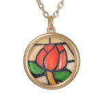 NECKLACE STAINED GLASS IMAGE...ORIGINAL 1940-50'S
