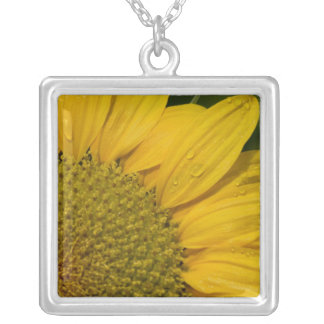 Necklace - Sunflower With Raindrops
