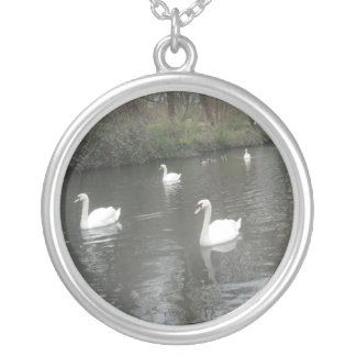 Necklace Swans Swimming