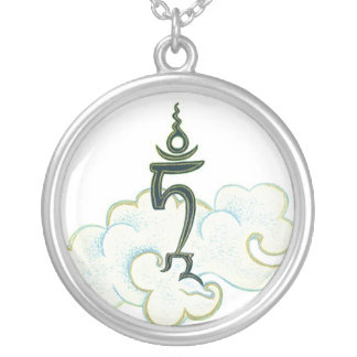NECKLACE Tam - Seed syllable of GreenTara - silver
