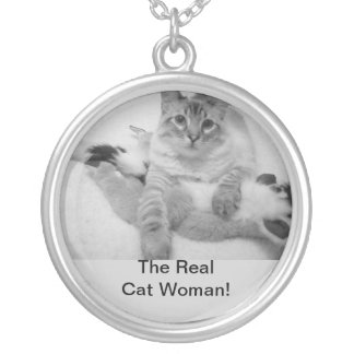 Necklace, The RealCat Woman! Silver Plated Necklace