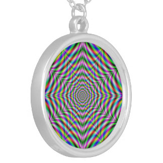 Necklace  Twelve Pointed Psychedelic Web