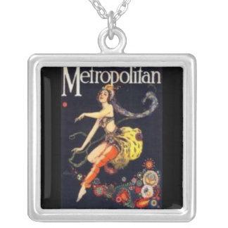 Necklace-Vintage Art-Metropolitan Square Pendant Necklace