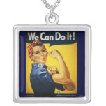 Necklace-Vintage Art-We Can Do It