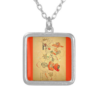 Necklace-Vintage-Charles Rennie Mackintosh 11 Silver Plated Necklace