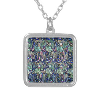 Necklace-Vintage-Charles Rennie Mackintosh 7 Silver Plated Necklace
