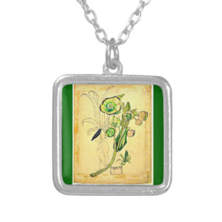 Necklace-Vintage-Charles Rennie Mackintosh 9 Silver Plated Necklace