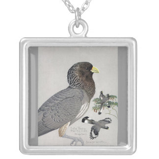 Necklace-Vintage Chicago Art-Abyssinian Birds 14 Silver Plated Necklace