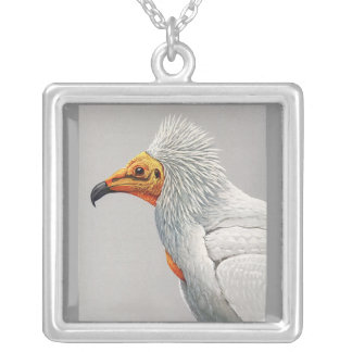 Necklace-Vintage Chicago Art-Abyssinian Birds 3 Silver Plated Necklace