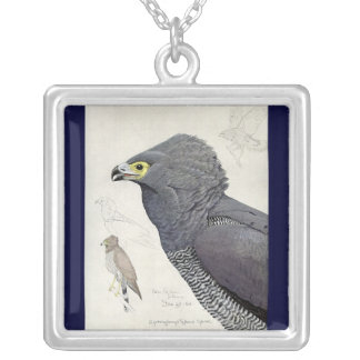 Necklace-Vintage Chicago Art-Abyssinian Birds 6 Silver Plated Necklace