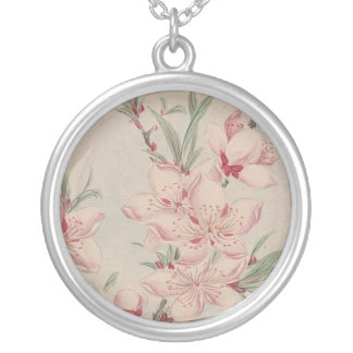 Necklace-Vintage Japanese Art-Megata Silver Plated Necklace
