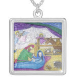 necklace: Virgin Mary