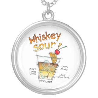 NECKLACE - WHISKEY SOUR RECIPE COCKTAIL ART