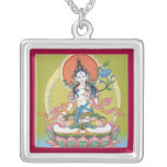 NECKLACE White Tara silver with pendant