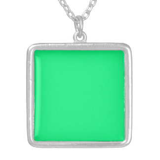 Necklace with Bright Green Background