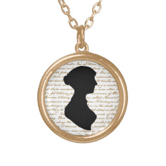 Necklace with Jane Austen's silhouette