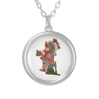 Necklace with Maya indian warriorh