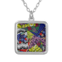 Necklace with Multi-Patterned Design
