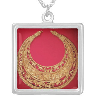 Necklace with pastoral scenes