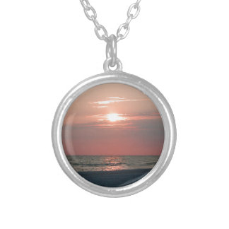 necklace with photo of beautiful sunset