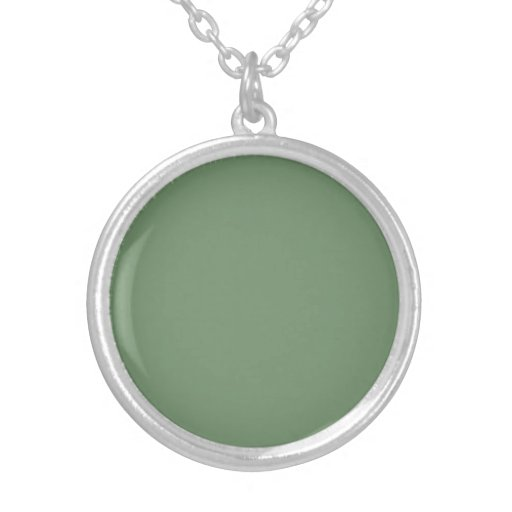 Necklace with Sage Green Background