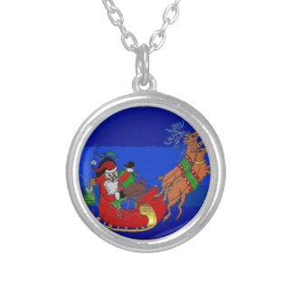 Necklace with Santa on a Sleigh Ride