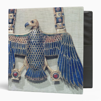 Necklace with vulture pendant 3 ring binder