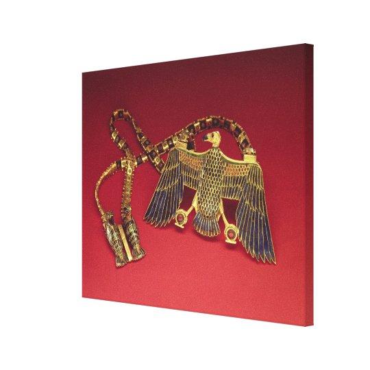 Necklace with vulture pendant canvas print