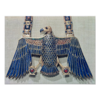 Necklace with vulture pendant poster