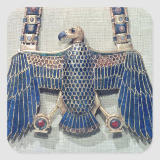 Necklace with vulture pendant square sticker