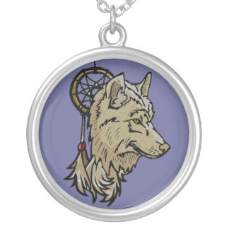 Necklace - Wolf Dream Catcher Charm