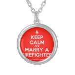 [Campfire] keep calm and marry a firefighter  Necklaces