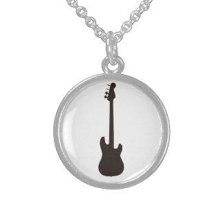 Neckles de la guitarra collares de plata esterlina
