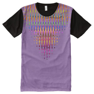 Neckline Abstract with your colors. All-Over-Print T-Shirt