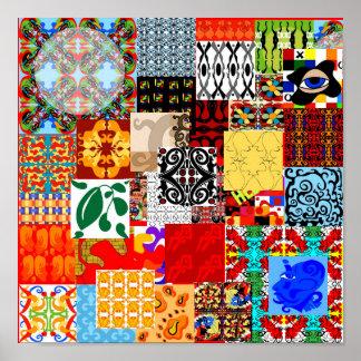 """""""Necktie Collage"""" Poster"""