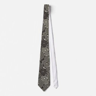 Necktie Man Hoops Negros & Old Almond White