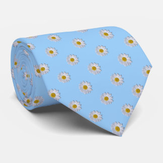 Necktie - New Daisy on Blue