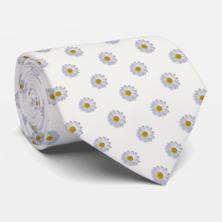 Necktie - New Daisy on Off White