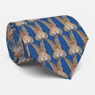 Necktie of 2 rabbits