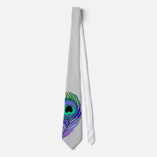 Necktie Peacock Feather Print