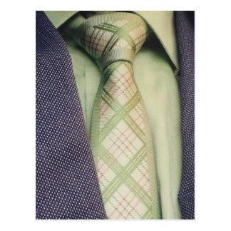 Necktie pictures slipsie Grön. Postcard