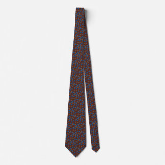 Necktie with Blue and Brown Ball Design