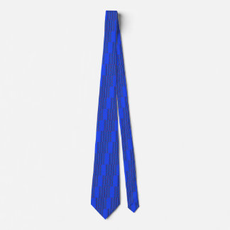 Necktie with Blue and Red Design